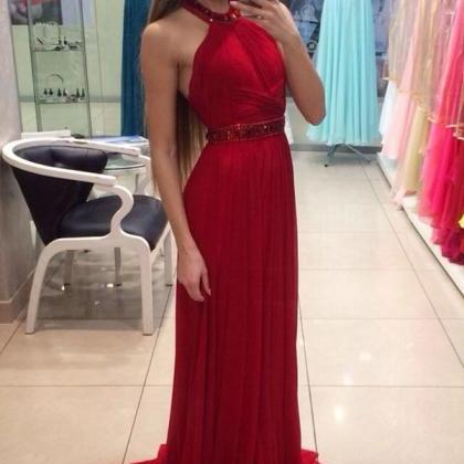 Prom Dress Red,Long Prom Dress,Prom..