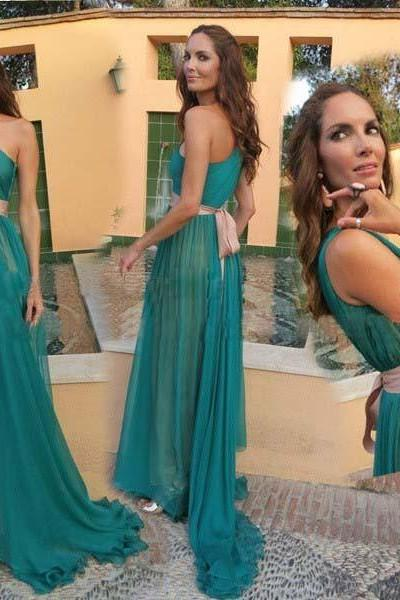 Turquoise Prom Dress Gown One Shoulder 2017,Prom Dress Long,Prom Dress Cheap,Evening Dress,Formal Dress,Cocktail Dress,Party Dress,Graduation Dress Junior prom dress