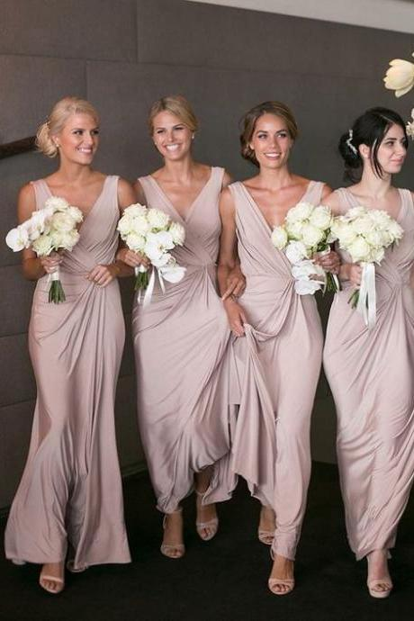 Champagne Bridesmaid Dresses Long,Bridesmaid Gowns Cheap, Maid of Honor Dress,Wedding Party Dresses, Formal Evening Dress, Prom Dresses
