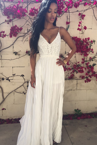 Custom Boho/Bohemian Prom Dresses, Backless Prom Gowns, Lace Prom Dress, Sexy Prom Dress,Ivory Boho/Bohemian Wedding Dress, Cheap Prom Dress, Affordable Prom Dress, Junior Prom Dress,Ivory Formal Evening Dresses Gowns, Party Dresses, Plus size