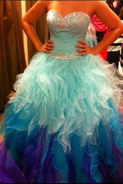 Quinceanera Dresses, Cheap Quinceanera Gown,vestidos de 15 anos,Quinceanera Dresses 2016,Sweet 16 Dresses,Debutante Dresses Gowns, Blue Quinceanera Dress, Princess Quinceanera Dress