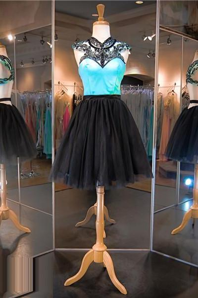 Two Tones Prom Dress,Short Prom Dress,Black Prom Dress, Blue Prom Dress,Sexy Prom Dress, Cheap Prom Dress,Prom Dress 2016,8th Grade Prom Dress,Navy Blue Evening Dress, Short Evening Dress,Formal Dress, Homecoming Dresses, Graduation Dress, Cocktail Dress, Party Dress