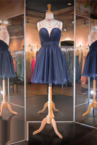 Dark Navy Blue Prom Dress,Short Prom Dress,Backless Prom Dress,Cheap Prom Dress,Prom Dress 2016, Sexy Prom Dress, Sexy Homecoming Dress, 8th Grade Prom Dress,Prom Gown, Holiday Dress,Dark Navy Blue Evening Dress, Short Evening Dress,Formal Dress, Homecoming Dresses, Graduation Dress, Cocktail Dress, Party Dress