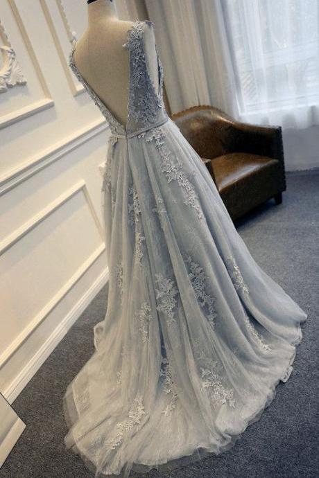 Silver Prom Dress,Tulle Prom Dress,Backless Prom Dress,Lace Prom Dress,Cheap Prom Dress,Prom Dresses 2017, Homecoming Dress, 8th Grade Prom Dress,Holiday Dress,Silver Evening Dress, Elegant Evening Dress,Long Evening Dress,Formal Dress, Long Homecoming Dresses, Graduation Dress, Cocktail Dress, Party Dress