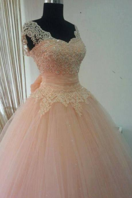 Blush Pink Prom Dresses,Prom Gown Ball Gown, Sweet 16 Dress,Formal Evening Dresses,Party Dress Cheap, Homecoming Dresses,Graduation Dress Custom Plus size