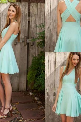 Prom Dress Short, Mint Prom Dress, Simple Prom Dress,Prom Dress Cheap, Prom Gown Cheap, Formal Evening Dresses,Party Dress, Homecoming Dresses,Graduation Dress