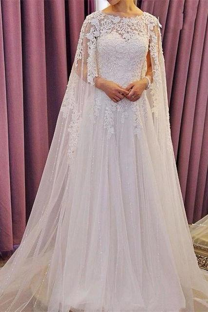 Ivory Tulle Lace Wedding Dresses , Wedding Gowns, Bridal Dresses, Bridal Gowns, Bride Dress, Dress for wedding, Cheap Wedding Dress, Custom Wedding Dress Plus size