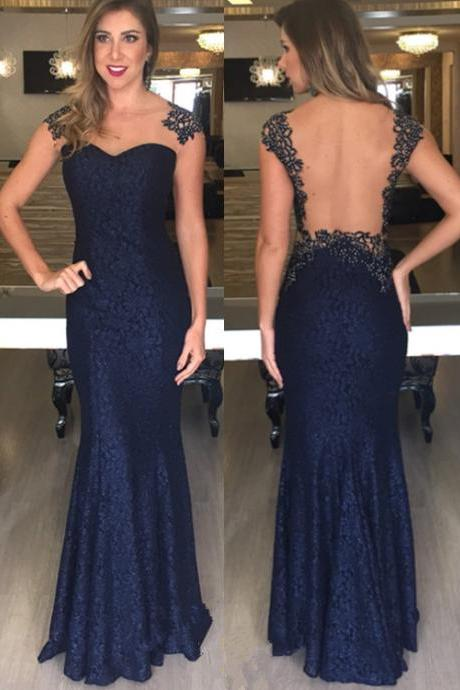 Prom Dress Navy Blue,Mermaid Prom Dress,Prom Dress Lace,Prom Gown,Celibrity Dress,Backless Prom Dress,Homecoming Dress, 8th Grade Prom Dress,Holiday Dress,Evening Dresses,Evening Dress Mermaid,Navy Blue Evening Dress,Formal Dress,Homecoming Dresses Navy Blue, Graduation Dress, Cocktail Dress, Party Dress