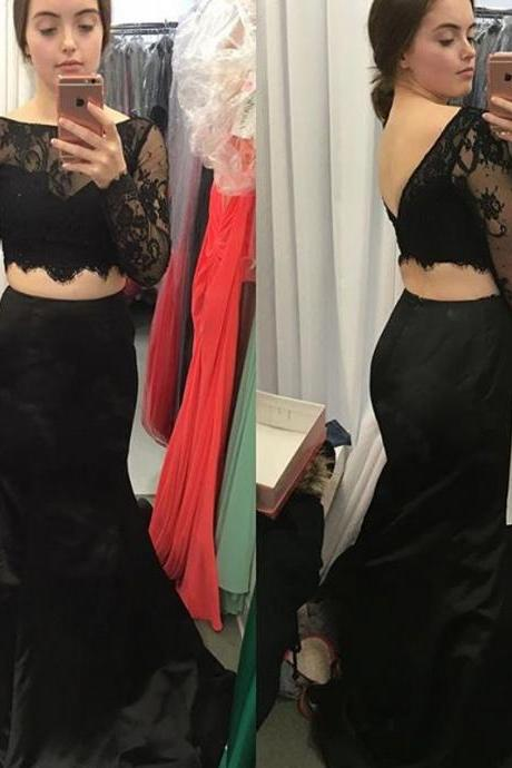 Prom Dress Black,Prom Dress Long Sleeves,Two Pieces Prom Dress,Prom Gown,Celibrity Dress,Cheap Prom Dress,Homecoming Dress, 8th Grade Prom Dress,Holiday Dress,Evening Dresses,Evening Dress Long Sleeves,Black Evening Dress,Formal Dress,Homecoming Dresses, Graduation Dress, Cocktail Dress, Party Dress