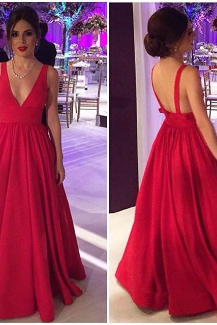 Cheap Simple V neck Fuchsia Hot Pink Prom Dresses Gowns, Formal Evening Dresses Gowns, Wedding Guest Dresses Custom Cheap Plus size