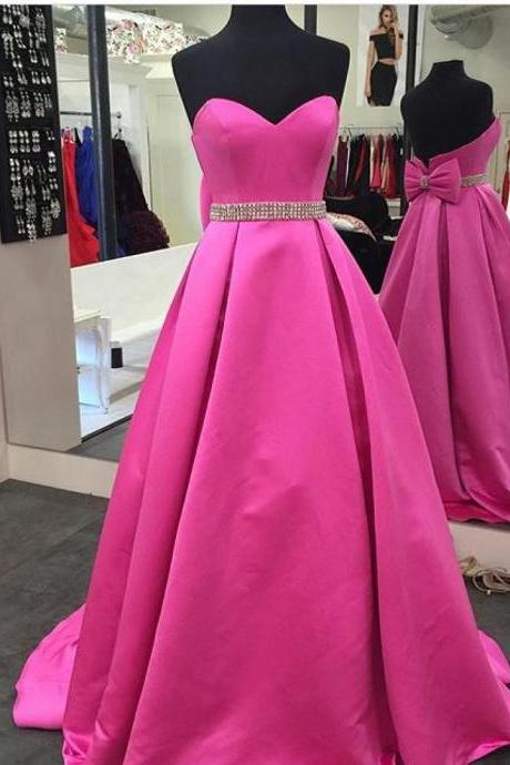 Prom Dresses, Prom Gown,Hot Pink Prom Dress,Prom Dress Long,Prom dress Cheap,Formal Dress,Evening Dress RT0082