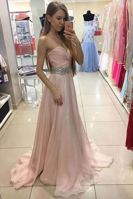Prom Dresses, Prom Gown,Light Pink Prom Dress,Prom Dress Long,Prom dress Cheap,Formal Dress,Evening Dress RT0083