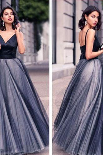 Prom Dresses,Prom Gown,Black Prom Dress,Prom Dress Long,Prom Dress V neck,Prom Dress Cheap,Formal Dress,Evening Dress,Custom Plus size RT0168