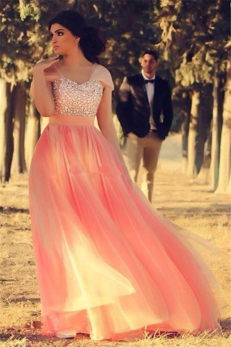 Prom Dress,Pink Prom Dress, Prom Gown,Beaded Prom Dress,Prom Dress Long,Prom Dress Cheap,Affordable Prom Dress,Junior Prom Dress,Formal Dress,Evening Dresses,Party Dress,Custom Plus size