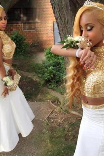 Prom Dress,Two Piece Prom Dress,Mermaid Prom Gown,White Prom Dress,Prom Dress Long,Prom Dress Cheap,Affordable Prom Dress,Junior Prom Dress,Formal Dress,Evening Dresses,Party Dress,Custom Plus size