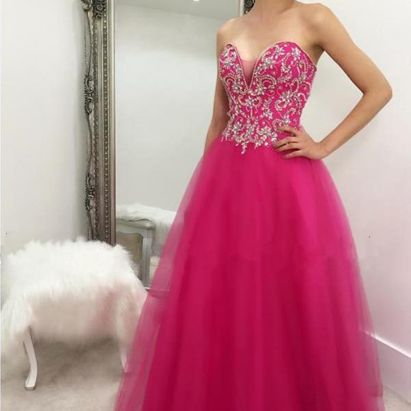 Prom Dress Fuchsia,Long Prom Dress,Prom Dress Tulle,Prom Gown,Celibrity Dress,Cheap Prom Dress,Homecoming Dress, 8th Grade Prom Dress,Holiday Dress,Evening Dresses,Evening Dress Long,Fuchsia Evening Dress,Formal Dress,Homecoming Dresses Fuchsia, Graduation Dress, Cocktail Dress, Party Dress