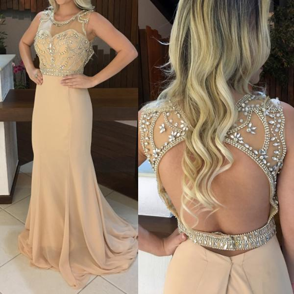 Prom Dress Champagne,Long Prom Dress,Prom Dress Open Back,Prom Gown,Celibrity Dress,Cheap Prom Dress,Homecoming Dress, 8th Grade Prom Dress,Holiday Dress,Evening Dresses,Evening Dress Long,Champagne Evening Dress,Formal Dress,Homecoming Dresses Champagne, Graduation Dress, Cocktail Dress, Party Dress
