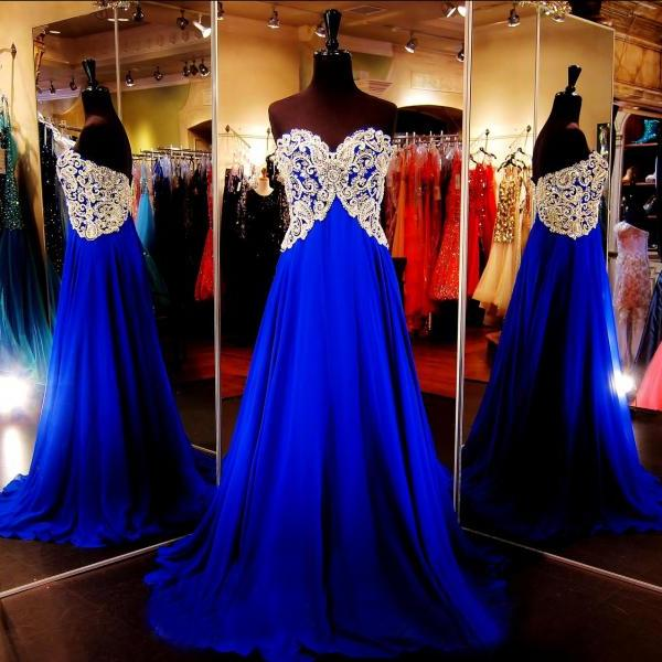 Prom Dress Royal Blue,Prom Gown, Evening Dress RT0004