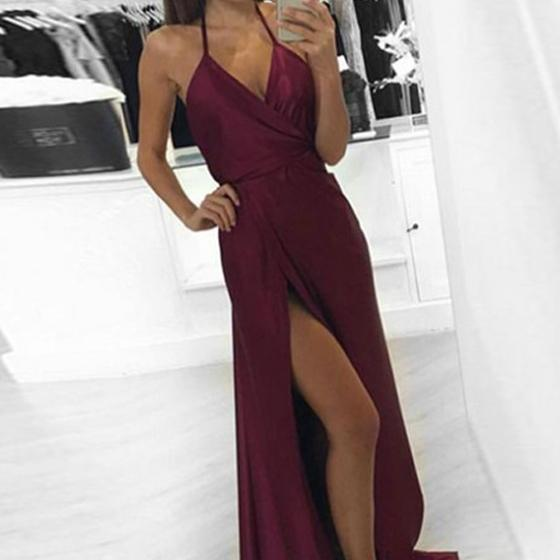 Prom Dress,Burgundy Prom Dress,Prom Gown,Halter Prom Dress,Wine Red Prom Dress,Prom Dress Backless,Prom Dress Sexy,Affordable Prom Dress,Junior Prom Dress,Formal Dress,Evening Dresses,Party Dress,Custom Plus size