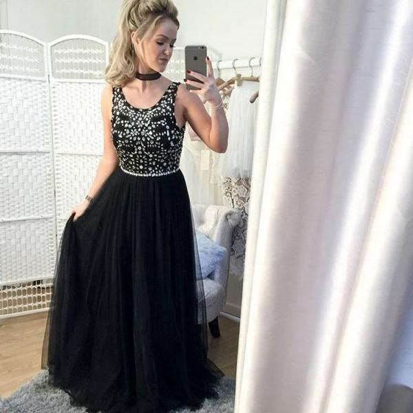 Long Black Prom Dress Gown Cheap,Evening Dress,Formal Dress,Cocktail Dress,Party Dress,Graduation Dress